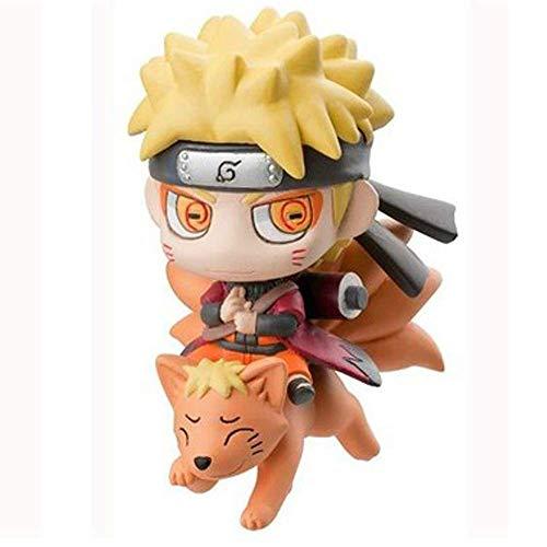 CMXUHUI Modelo de muñeca Linda Anime Statue Modelo Naruto Anime Modelo, Naruto Uzumaki Statue, Decoración de Escritorio, 8 cm