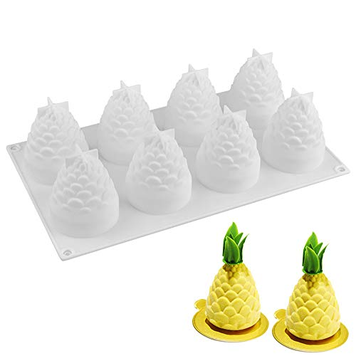 Silicone Mousse Cake Mold, Joyeee 3D PineCone/Pineapple Cake Mold Trays/Pastry Desserts Mould, Food Grade, for Halloween Christmas Cake Dessert Mousse Chocolate Chiffon Truffle Cheesecake Brownie