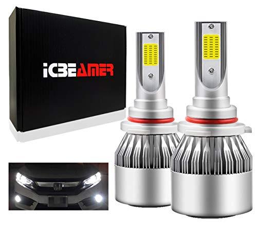 ICBEAMER 9006 HB4 LED COB 12V 36W Canbus Direct Plugin Super White 6000K for Automotive Low Beam/Fog Light Headlight Lamps Bulbs
