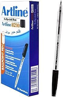 Artline 8210 Ballpoint Pen, 1mm, Black Colour, PACK OF 12