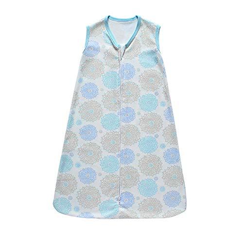 Saco de dormir para bebé, 0,5 tog, manta de bebé portátil para verano/primavera, algodón transpirable, antipatadas Grobag sin mangas para bebé de 3 a 18 meses