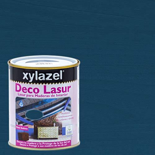 Xylazel - Protección madera deco lasur 750ml baltico azul