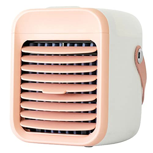 Condizionatore d'aria portatile 2000 mAh Mini Cordless Air Cooler con ricarica USB per la casa ufficio sala sport all'aperto rosa...