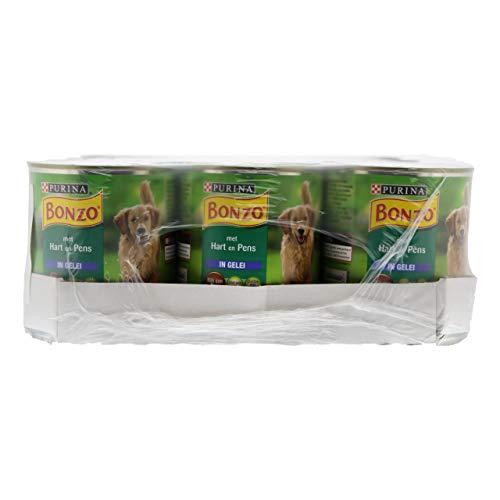 Bonzo Komplettes Tierfutter mit Herz und Pansen - 12 Dosen x 800 Gramm