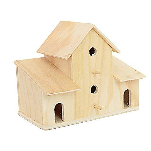 ZAKRLYB Casa de madera maciza Piggy Bank Decoración creativa Regalos de madera Cambio de gran capacidad Cambio de monedas Banco de Moneda Muchacho y niña Recuerdos Ahorre dinero Apto para escritorio A