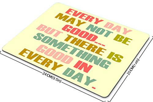 Smooffly Gaming Mouse Pad Custom,Every Day May Not Be Good Quote Design Mouse Pad Photo #3