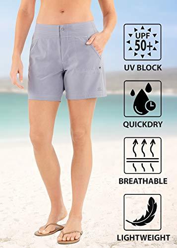 ZeroXposur Women's Sporty Stretch Hybrid Shorts Bottom (Grey, X-Large)