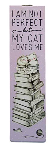 Segnalibro elastico con gatto | Segnale libro | I Am Not Perfect But My Cat Loves Me