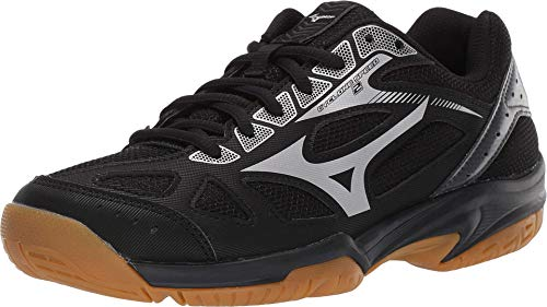 Mizuno womens Wave Cyclone 2 Volleyball Shoe, Black/Silver, 8.5 US