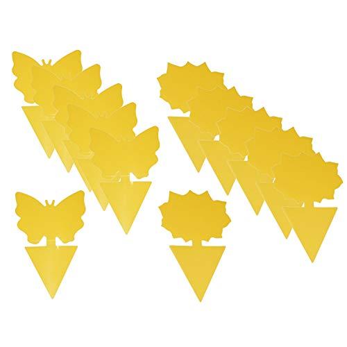 Lote De 18 Tiras Adhesivas Para Atrapar Insectos (Incluye Varillas De Sujeción), Color Amarillo