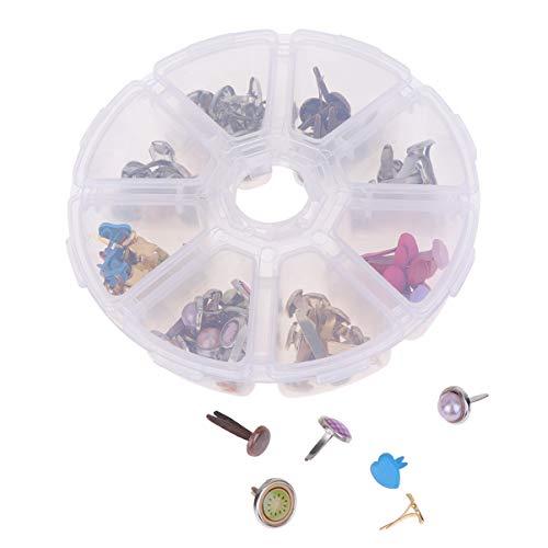 SUPVOX 110 piezas mini clavitos metal scrapbooking clavos sujetadores de papel para manualidades diy