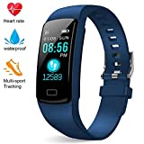 Deyawe Fitness Tracker,Colorful Screen Activity Tracker with Heart Rate Monitor,Waterproof Pedometer Watch, Sleep Monitor, Stopwatch,Step Counter for Kids Women Men【2019 Version】