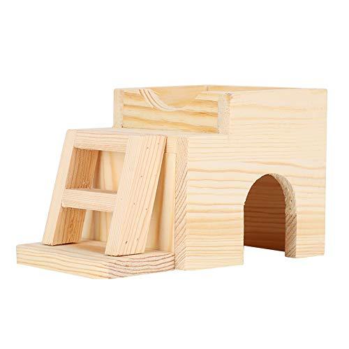 ffu Pequeño Animal De Madera Resistente A La Mordida Hamster Casa De Dormir Jugando Juguetes De Nido, Suministros para Mascotas