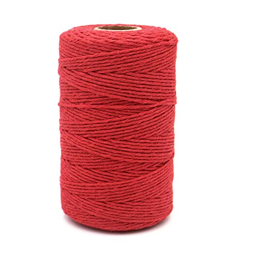 200M/656Feet Cotton String,Red String,Cotton Cord Craft String Baker Twine for DIY Crafts and Gift Wrapping-2mm