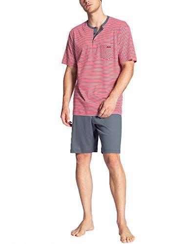 CALIDA Herren Relax Streamline 3 Zweiteiliger Schlafanzug, Rot (Tango red 156), Medium (Herstellergröße:M)