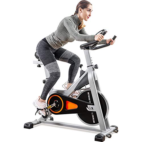 For Sale! Merax Indoor Cycling Exercise Bike Cycle Trainer Adjustable Stationary Bike (Orange)