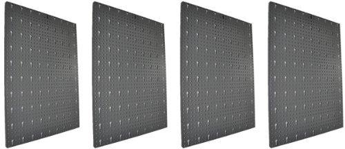 Kreher XXL Lochblech Set 4tlg. 4 Werkzeug Lochwand Platten aus Metall mit Schlüssel Lochung 30 mm. Lackiert in Grau. Gesamtmaß ca. 164 x 58 cm