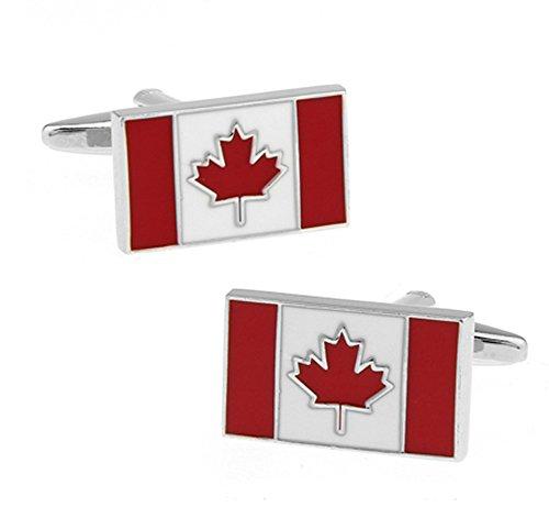 Boutons de manchette du drapeau du Canada