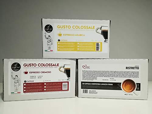 Paquete de 200cápsulas de café compatibles con cafeteras Lavazza Firma y Vitha Group, sabor a elegir