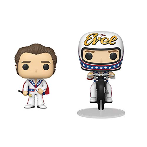 Funko Pop! Knievel Set of 2: Evel w/Cape Pop! and Evel on Motorcycle Pop! Rides