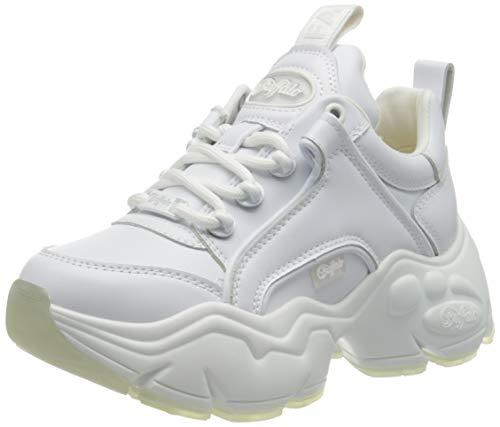Buffalo Damen Binary Cash Sneaker, White, 39 EU