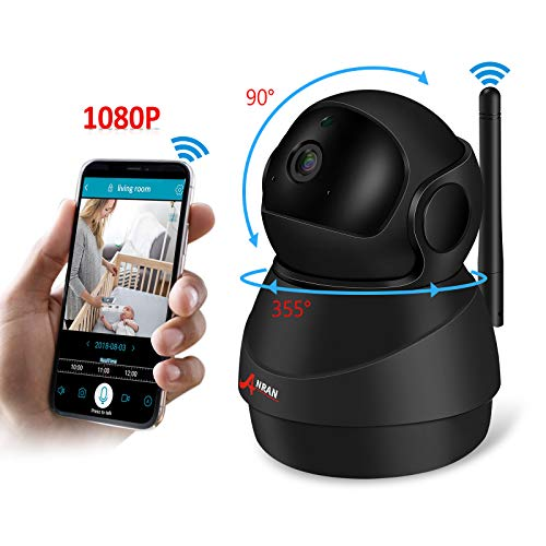 Baby Monitor WiFi 1080P IP Camera, Wireless Security Camera with Two-Way Audio Night Vision Motion Detection Indoor Security Camera, WiFi Home Security Surveillance HD Camera for Pet Baby Elder Care,