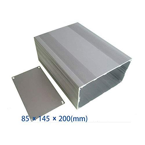Caja de instrumentos de aluminio, caja de proyectos de aluminio, caja de cierre electrónico para placa PCB DIY