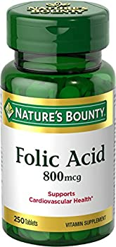 Nature s Bounty Folic Acid Supplement Supports Cardiovascular Health 800mcg 250 Tablets 3 Pack