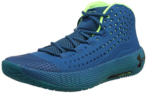 Under Armour UA HOVR Havoc 2, Zapatos de Baloncesto para Hombre, Verde (Teal Vibe/Teal Rush/Black (404) 404), 47.5 EU
