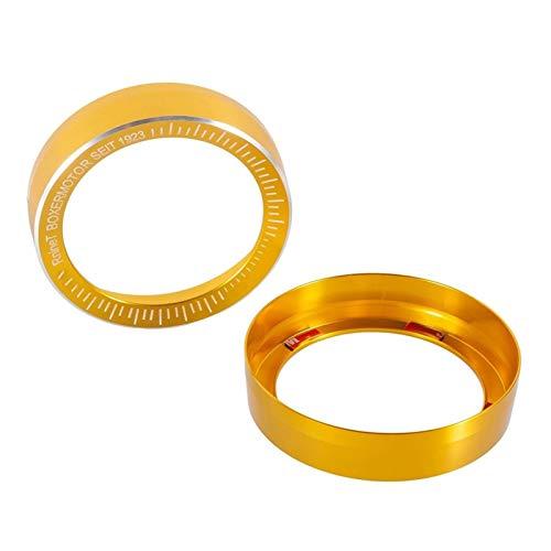 ANANa Claral 2 Piezas CNC de Aluminio Velocímetro de la Motocicleta Bisel Calibre de Anillo Tacómetro cuentakilómetros Recortar la Cubierta for R Nine T R9T 2019-2020 Claral (Color : Gold)