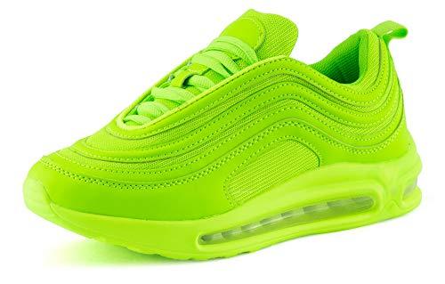 Fusskleidung Damen Herren Sportschuhe Sneaker Dämpfung Laufschuhe Neon Jogging Gym Unisex Grün EU 38