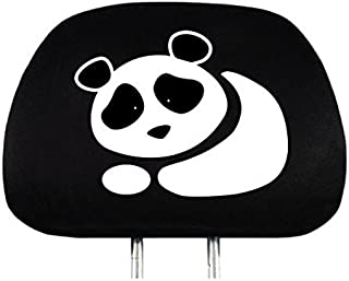 Yupbizauto New Interchangeable Car Seat Headrest Cover Universal Fit for Cars Vans Trucks - One Piece (Panda)