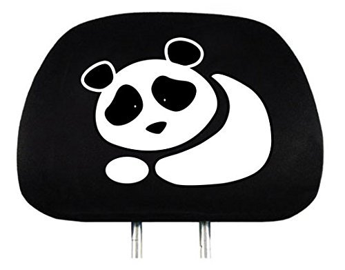 Yupbizauto New Interchangeable Car Seat Headrest Cover Universal Fit for Cars Vans Trucks - One Piece (Panda)