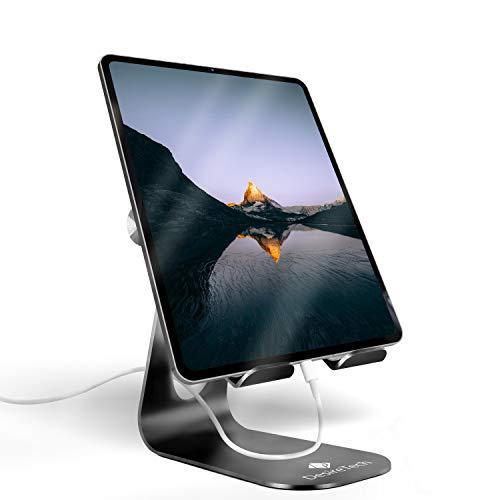Soporte ajustable para tableta, para iPad - base Compatible con iPad Pro 9.7-12.9 pulgadas, Air, Mini, iPhone, Samsung Galaxy, Switch (negro)