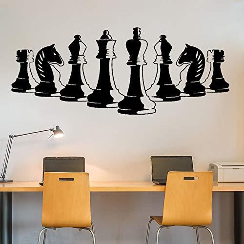 Piezas de ajedrez dentro del tablero de estrategia juego de pegatinas de pared de vinilo   oficina hogar pared dormitorio estudio decoración de la pared