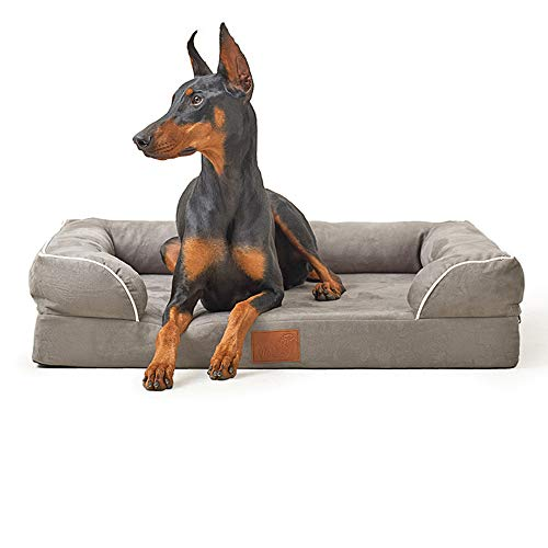 MePet 4' Mattress Orthopedic Memory Foam Dog Bed Lounge Sofa for Medium Dog with Chew Proof 100% Suede Removable Cover Size 36' x 28'