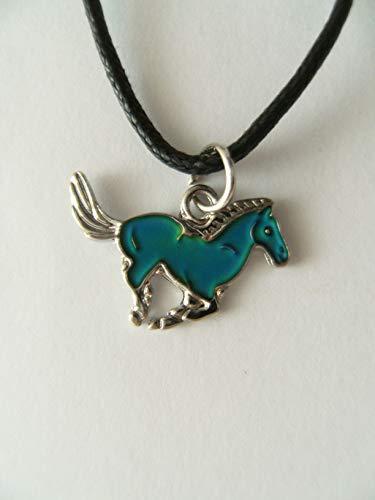 Cornelißen Stimmungskette Pferd, Kette Anhänger Modeschmuck Ketten Geschenke Schmuck, Pony Galopp