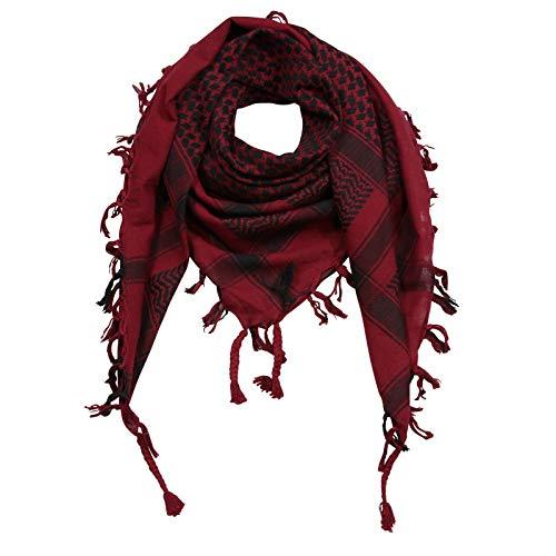 Superfreak Palituch zweifarbig klassisch°PLO Schal°100x100 cm°Pali Palästinenser Arafat Tuch°100% Baumwolle – alle Farben!!!, Rot-bordeaux/Schwarz, 100x100cm