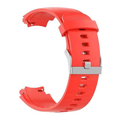 DIPOLA Estuche de Correa de Silicona para Correa de Reloj para Huami Amazfit Verge con Protector de Pantalla—Rojo