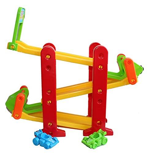HOVUK Slide And Go Rampa de coche con 2 coches diversión y actividades educativas juguete de juego preescolar para niños de 18+meses