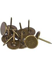 100 stuks bekleding kopspijkers, platte kop punaise assortiment kit meubels nagels ijzer kunst benodigdheden accessoires voor deur sofa gestoffeerde decoratie - cyaan brons(16 x 20MM)