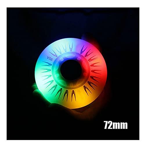 Linglong Flash-Inline-Skate-Räder, 90 A, LED-Beleuchtungs-Rollen, 80 76 72 68, 4 Stück