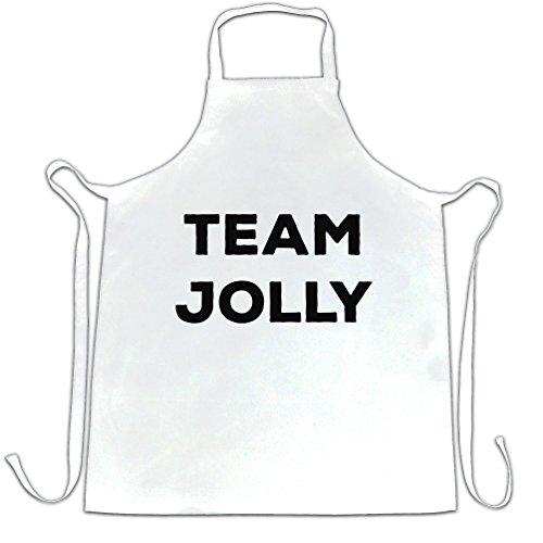 nouveauté Noël Tablier du chef Équipe Jolly Slogan White One Size