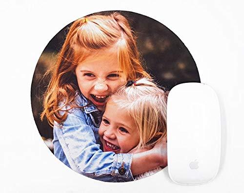 Alfombrillas Personalizadas con Fotos y Texto | Máxima Calidad de impresión | Base de Goma Antideslizante y Flexible | Grosor 3 mm | Circular de 19 cm de diámetro