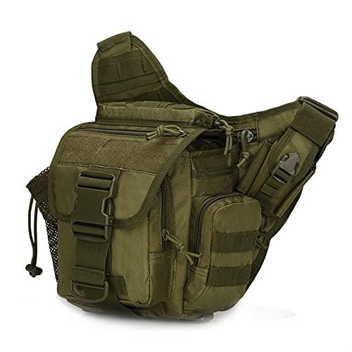 JIEERCUN Bolsa de Hombro táctico Militar Oxford Bolsa Militar Militar Outdoor Senderismo Viajes Montañismo Bolsa Messenger Bag Camping Senderismo riñonera (Color : Army Green)