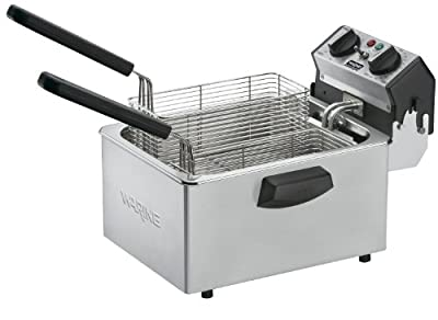 Waring Commercial Countertop Compact Electric Deep Fryer, 8.5-Pound