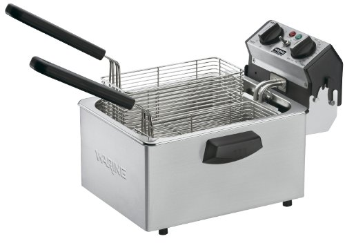 Waring Commercial WDF75RC 120-volt Countertop Compact Electric Deep Fryer,...