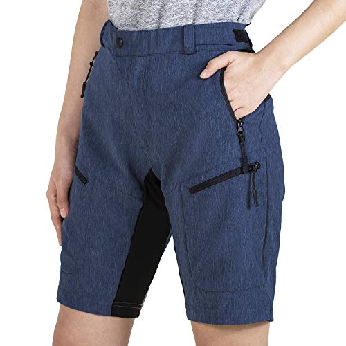 Wespornow Damen-MTB-Kurz-Hose Outdoor-Shorts Kurz-Wanderhose MTB-Shorts Radsportshorts für Damen (Navy, Large)