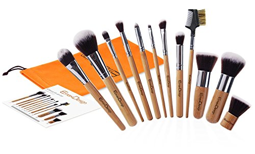Beauty Shopping EmaxDesign 12 Pieces Makeup Brush Set Professional Bamboo Handle Premium Synthetic