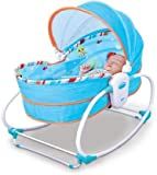 Mastela 5 in 1 Rocker and Bassinet Napper with Musical Vibrations (Blue)